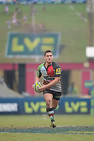 20130309 Copyright onEdition 2013©.Free for editorial use image, please credit: onEdition..Ben Botica of Harlequins in action during the LV= Cup semi final match between Harlequins and Bath Rugby at The Twickenham Stoop on Saturday 9th March 2013 (Photo by Rob Munro)..For press contacts contact: Sam Feasey at brandRapport on M: +44 (0)7717 757114 E: SFeasey@brand-rapport.com..If you require a higher resolution image or you have any other onEdition photographic enquiries, please contact onEdition on 0845 900 2 900 or email info@onEdition.com.This image is copyright onEdition 2013©..This image has been supplied by onEdition and must be credited onEdition. The author is asserting his full Moral rights in relation to the publication of this image. Rights for onward transmission of any image or file is not granted or implied. Changing or deleting Copyright information is illegal as specified in the Copyright, Design and Patents Act 1988. If you are in any way unsure of your right to publish this image please contact onEdition on 0845 900 2 900 or email info@onEdition.com