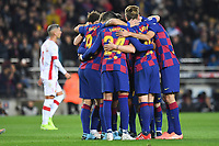 Lionel Messi celebrates after scoring a goal with team mates <br /> 07/12/2019 <br /> Barcelona - Maiorca<br /> Calcio La Liga 2019/2020 <br /> Photo Paco Largo Panoramic/insidefoto <br /> ITALY ONLY