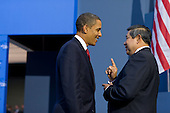 Pittsburgh, PA - September 25, 2009 -- United States President Barack Obama talks with President Dr. Susilo Bambang Yudhoyono of Indonesia during the G-20 Pittsburgh Summit at the David L. Lawrence Convention Center in Pittsburgh, Pennsylvania, September 25, 2009. .Mandatory Credit: Pete Souza - White House via CNP
