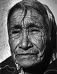 A Lakota woman, who was waiting at a Bus Station in Sharps Corner on the Pine Ridge Reservation of South Dakota. Photo by Jim Peppler, taken to illustrate an Bob Wyrick written series on Native Americans published in Newsday. Phoito by Jim Peppler.