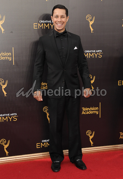 11 September 2016 - Los Angeles, California. David Delrio. 2016 Creative Arts Emmy Awards - Day 2 held at Microsoft Theater. Photo Credit: Birdie Thompson/AdMedia