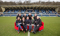 Bill Turnbull sits on the sofa with his Breakfast Show team for the day During BBC Breakfast as they air their live broadcast on Tuesday morning, presented by Bill Turnbull for his penultimate appearance on the programme at Adams Park, High Wycombe, England on 23 February 2016. Photo by Andy Rowland.