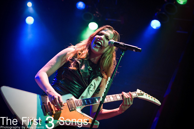 Lzzy Hale of Halestorm performs at the House of Blues in Cleveland, Ohio.