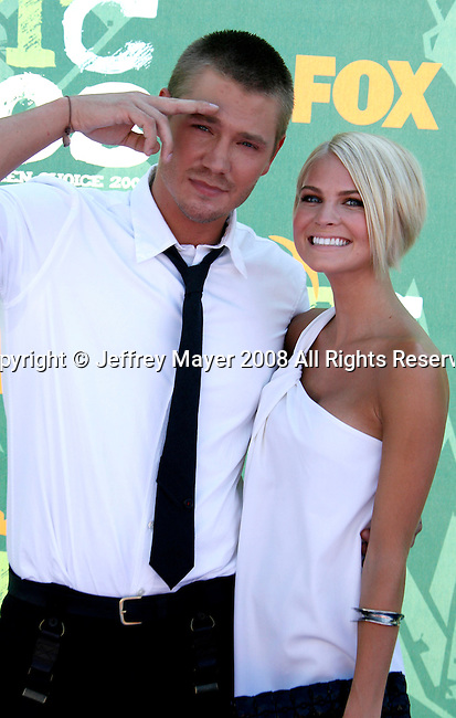 Actor Chad Michael Murray and guest arrive at the 2008 Teen Choice Awards at the Gibson Amphitheater on August 3, 2008 in Universal City, California.