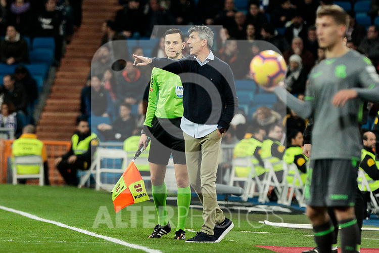 Real Sociedad's coach Asier Garitano during La Liga match between Real Madrid and Real Sociedad at Santiago Bernabeu Stadium in Madrid, Spain. January 06, 2019. (ALTERPHOTOS/A. Perez Meca)<br />  (ALTERPHOTOS/A. Perez Meca)