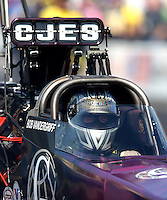 Oct 5, 2013; Mohnton, PA, USA; NHRA top fuel dragster driver Bob Vandergriff Jr during qualifying for the Auto Plus Nationals at Maple Grove Raceway. Mandatory Credit: Mark J. Rebilas-