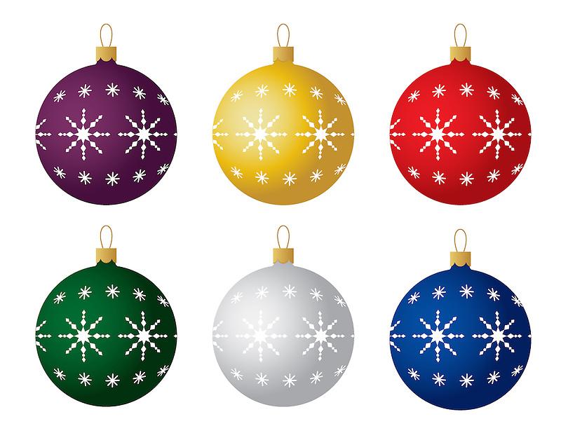 Christmas ornament ball snowflake rich leighton