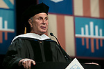 John Corigliano, a Grammy Award-winning composer, addresses the graduating class and received an honorary degree Saturday, June 10, 2017, during the DePaul University School of Music and The Theatre School commencement ceremony at the Rosemont Theatre in Rosemont, IL. (DePaul University/Jeff Carrion)