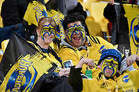 Hurricanes fans during the Super Rugby - Hurricanes v Chiefs at Westpac Stadium, Wellington, New Zealand on Friday 13 April 2018.<br /> Photo by Masanori Udagawa. <br /> www.photowellington.photoshelter.com