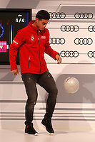 James participates and receives new Audi during the presentation of Real Madrid's new cars made by Audi in Madrid. December 01, 2014. (ALTERPHOTOS/Caro Marin) /Nortephoto
