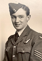 BNPS.co.uk (01202 558833)<br /> Pic:  DavidLay/BNPS<br /> <br /> A fresh faced Flight Sergeant Douglas Alexander on joining up in 1942.<br /> <br /> Bomber command heroes WW2 exploits discovered in a shoebox.<br /> <br /> The personal effects of a fearless 'Tail-end Charlie' have been discovered in a shoebox - and they include a charming set of photos of his wartime service.<br /> <br /> Flight Sergeant Douglas Alexander, of 460 Squadron, took part in nearly 40 bombing raids over Germany, including the famous assault on Hitler's mountain retreat, Berchtesgaden.<br /> <br /> As a tail gunner, he sat in a tiny glass turret at the rear of Lancaster and Halifax bombers - a terribly exposed position.<br /> <br /> The shoebox, containing his bravery medals, logbooks and photos, was bought into auctioneer David Lay Frics, of Penzance, Cornwall, by his daughter.<br /> <br /> Flt Sgt Alexander's medal group includes the prestigious Distinguished Flying Medal, awarded for 'exceptional valour, courage and devotion to duty', with his photos capturing the camarederie which existed in the RAF as the airmen risked their lives on every mission to defeat Adolf Hitler.