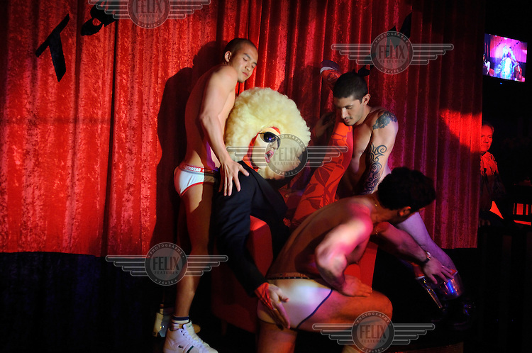 Cabaret show at the T&M gay nightclub in the city's Neiderdorf district. Zurich is one of Europe's most gay friendly cities.