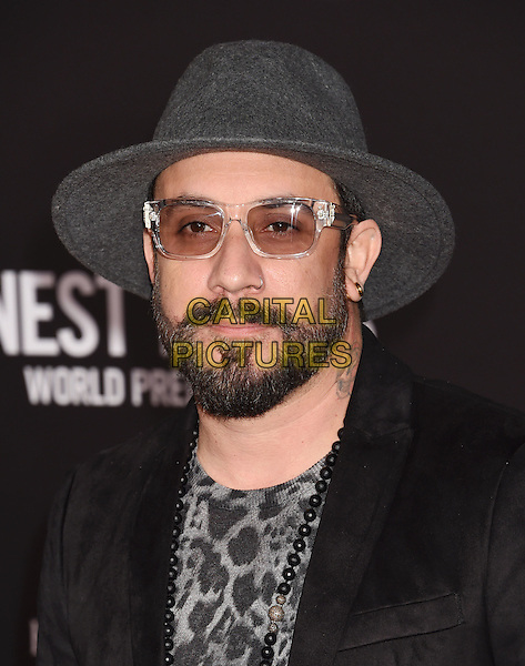 HOLLYWOOD, CA - JANUARY 25: Singer/musician A.J. McLean arrives at the Premiere Of Disney's 'The Finest Hours' at TCL Chinese Theatre on January 25, 2016 in Hollywood, California.