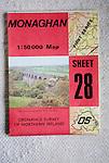 Discoverer series 1:50,000 ordnance survey map of Monaghan, Northern Ireland sheet 28