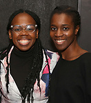 Ngozi Anyanwu and Awoye Timpo attends the Vineyard Theatre Paula Vogel Playwriting Award honoring Jeremy O. Harris on October 12, 2018 at the National Arts Club in New York City.