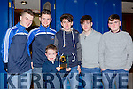 Enjoying the Castlemaine FC 25th anniversary social on Sunday 27th December were front Conor Giles back  l-r: Daniel Cronin, Padraig O'Brien, Sean OO'Dea, Gavin McKenna, Trevor Lenihan
