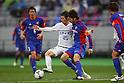 (L to R) .Junya Osaki (Sanfrecce), .Masato Morishige (FC Tokyo), .MARCH 31, 2012 - Football /Soccer : .2012 J.LEAGUE Division 1 .between F.C. Tokyo 0-1 Sanfrecce Hiroshima .at Ajinomoto Stadium, Tokyo, Japan. .(Photo by YUTAKA/AFLO SPORT) [1040]