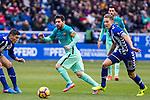 FC Barcelona's forward Leo Messi in action during the match of La Liga between Deportivo Alaves and Futbol Club Barcelona at Mendizorroza Stadium in Vitoria, Spain. February 11, 2017. (ALTERPHOTOS/Rodrigo Jimenez)