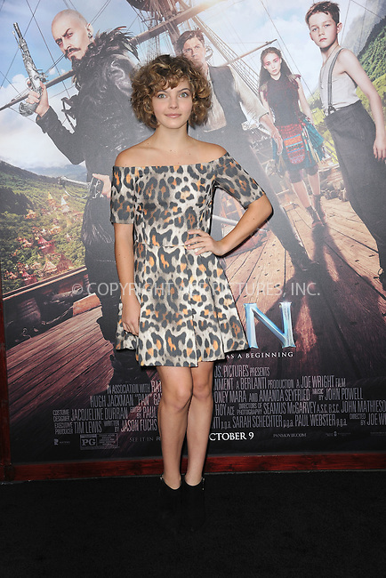 WWW.ACEPIXS.COM<br /> October 4, 2015 New York City<br /> <br /> Camren Bicondova attending the 'Pan' New York Premiere arrivals at Ziegfeld Theater on October 4, 2015 in New York City.<br /> <br /> Credit: Kristin Callahan/ACE Pictures<br /> <br /> Tel: (646) 769 0430<br /> e-mail: info@acepixs.com<br /> web: http://www.acepixs.com
