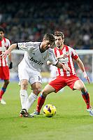 Xabi Alonso and Gabi during La Liga Match. December 02, 2012. (ALTERPHOTOS/Caro Marin)