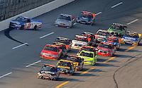 Oct 4, 2008; Talladega, AL, USA; NASCAR Craftsman Truck Series driver Jack Sprague (2) crashes during the Mountain Dew 250 at the Talladega Superspeedway. Mandatory Credit: Mark J. Rebilas-