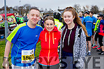 David Hills, Anne Kelleher and Ava Kelleher runners at the Kerry's Eye Tralee, Tralee International Marathon and Half Marathon on Saturday.