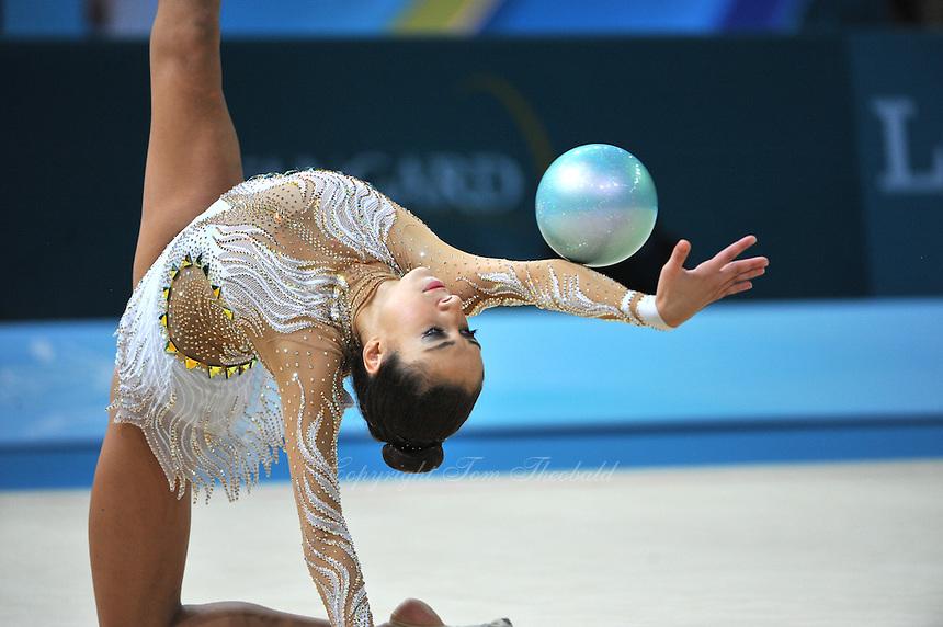 August 30, 2013 - Kiev, Ukraine - REBECCA SEREDA of USA performs at 2013 World Championships.