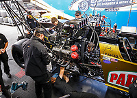 Jul 30, 2017; Sonoma, CA, USA; Crew members for NHRA top fuel driver Leah Pritchett during the Sonoma Nationals at Sonoma Raceway. Mandatory Credit: Mark J. Rebilas-USA TODAY Sports