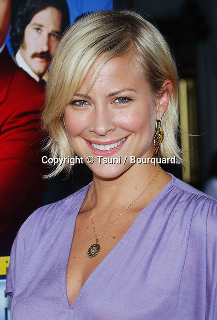 Brittany Daniels arriving at the Anchorman Premiere at the Chinese Theatre in Los Angeles. June 28, 2004.