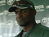 Todd Bowles, head coach, speaks with the media after a day of New York Jets Training Camp at the Atlantic Health Jets Training Center in Florham Park, NJ on Wednesday, Aug. 9, 2017.