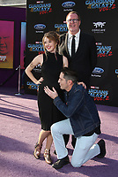 HOLLYWOOD, CA - April 19: David Dastmalchian, Evelyn Leigh, Steve Agee, At Premiere Of Disney And Marvel's &quot;Guardians Of The Galaxy Vol. 2&quot; At The Dolby Theatre  In California on April 19, 2017. <br /> CAP/MPI/FS<br /> &copy;FS/MPI/Capital Pictures