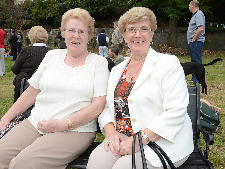 Peggy Berrill and Bridie Kierans pictured on Donors Green. Photo:Colin Bell/pressphotos.ie