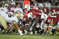 16 September 2006: Trent Edwards, Ismail Simpson, Allen Smith, and Patrick Danahy during Stanford's 37-9 loss to Navy during the grand opening of the new Stanford Stadium in Stanford, CA.