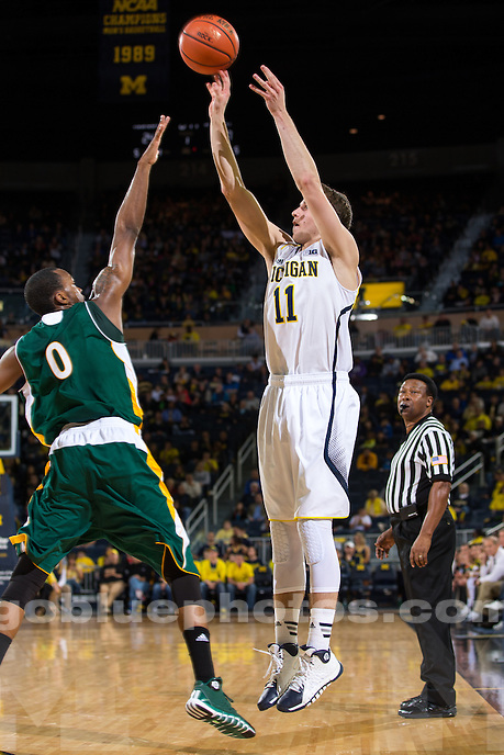 The University of Michigan men's basketball team defeated Wayne State (Mich) in pre-season action, 79-60, at Crisler Center in Ann Arbor, Mich. on November 4, 2013.