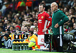 Wayne Rooney of Manchester United waits to come on during the UEFA Europa League match at Old Trafford Stadium, Manchester. Picture date: September 29th, 2016. Pic Matt McNulty/Sportimage