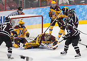 Daniel Ciampini (Union - 17), Geoff Miller, Kyle Rau (MN - 7), Adam Wilcox (MN - 32), Mike Reilly (MN - 5), Daniel Carr (Union - 9), Mike Vecchione (Union - 21) - The Union College Dutchmen defeated the University of Minnesota Golden Gophers 7-4 to win the 2014 NCAA D1 men's national championship on Saturday, April 12, 2014, at the Wells Fargo Center in Philadelphia, Pennsylvania.