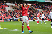 Conor Gallagher of Charlton Athletic reaction to a headed that goes wide during Charlton Athletic vs Preston North End, Sky Bet EFL Championship Football at The Valley on 3rd November 2019