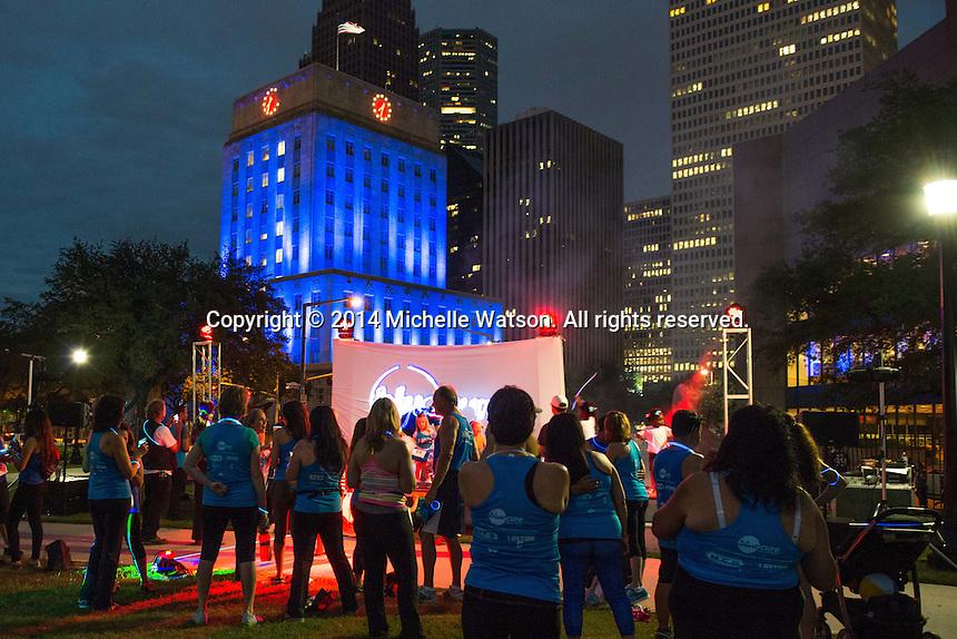 Blue Cure Night Run at Sam Houston Park