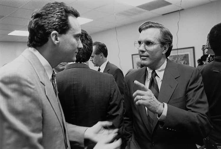 After Debate at South Texas College of Law. April 15, 1993 (Photo by Maureen Keating/CQ Roll Call)
