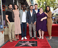 HOLLYWOOD, CA - MARCH 25: (L-R) Milo Ventimiglia, Mandy Moore, Sterling K. Brown, Jon Huertas, Justin Hartley, Chrissy Metz, and Susan Kelechi Watson at the Mandy Moore star ceremony on the Hollywood Walk of Fame on March 25, 2019 in Hollywood, California. (Photo by Frank Micelotta/20th Century Fox Television/PictureGroup)