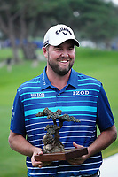 Marc Leishman (AUS) at prizegiving after the final round of the Farmers Insurance Open, Torrey Pines, La Jolla, San Diego, USA. 25/01/2020<br /> Picture: Golffile | Phil INGLIS<br /> <br /> <br /> All photo usage must carry mandatory copyright credit (© Golffile | Phil Inglis)