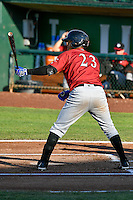 Yeison Melo (23) of the Idaho Falls Chukars at bat against the Ogden Raptors in Pioneer League action at Lindquist Field on June 28, 2016 in Ogden, Utah. The Raptors defeated the Chukars 12-11. (Stephen Smith/Four Seam Images)