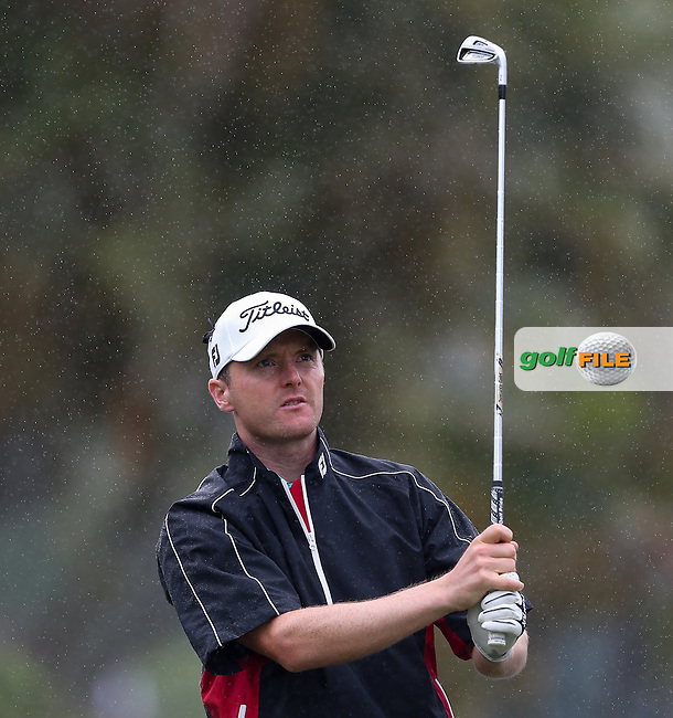 Michael Hoey (NIR) Round One disrupted after producing a -3 back nine at The Nelson Mandela Championship 2013 presented by ISPS Handa, at the Mount Edgecombe Country Club, KwaZulu-Natal, South Africa. Picture:  David Lloyd / www.golffile.ie