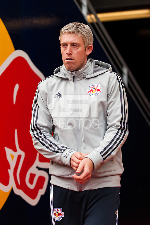 New York Red Bulls reserve team coach John Wolyniec. The New York Red Bulls and D. C. United played to a 0-0 tie during a Major League Soccer (MLS) match at Red Bull Arena in Harrison, NJ, on March 16, 2013.