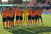 One minutes silence during Barnet vs Bristol Rovers, Emirates FA Cup Football at the Hive Stadium on 11th November 2018