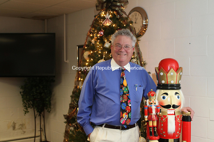 PROSPECT, CT, 22 December, 2015 - 122215LW03 - Prospect Mayor Robert Chatfield poses in the basement of Town Hall Dec. 22.<br />