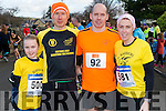 l-r Eria Murphy from Killorglin, Danny Murphy from Tralee, Sean and Tracy Murphy from Killorglin pictured at Charles O'Shea Memorial 5km and 10km Run in the Beaufort on New Year morning.