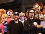 "AJ McLean and Kevin Richardson from the Backstreet Boys backstage with the cast and crew of  ""Avenue Q""  at the New World Stages on January 27, 2019 in New York City."
