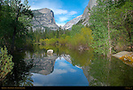 Mirror Lake and Mount Watkins in Spring, Yosemite National Park