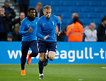 Toby Alderweireld of Tottenham warms up during the premier league match at the Amex Stadium, London. Picture date 17th April 2018. Picture credit should read: David Klein/Sportimage